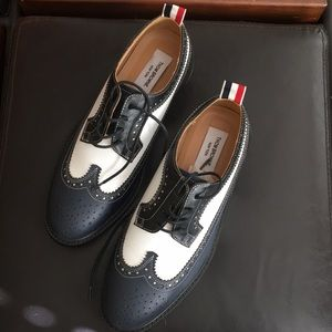 Cool Thom Browne grained leather brogues shoes
